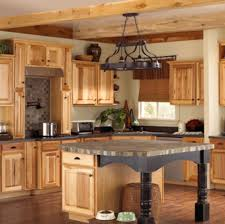 picture of hickory kitchen cabinets