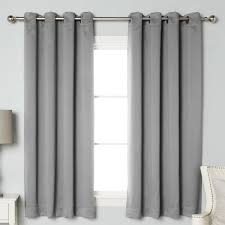 solid blackout thermal grommet curtain panels