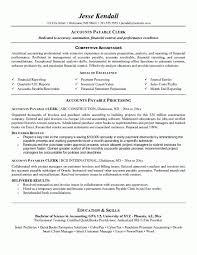 Accounts Payable Manager Resume Mesmerizing Accounts Payable Resume Accounts Payable Clerk Jesse Kendall