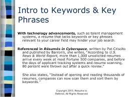 Keywords For Resumes