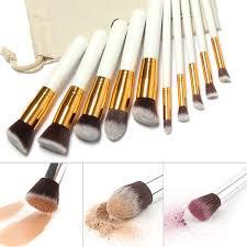 10pcs make up brush professional tools kit makeup brushes set highlighter and fan eye shadow