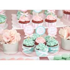 pink and green baby shower dessert table 1480062 jpg