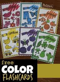 Take a print out (preferably on card stock) and cut along the dotted lines. Free Printable Color Flashcards