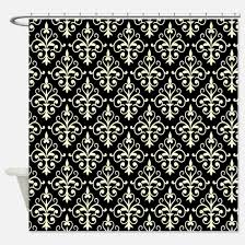 cream and black shower curtain. cream \u0026 black damask 41 shower curtain and