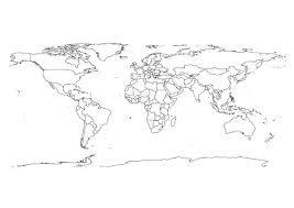 Kleurplaat Wereldkaart Wereldkaart Wereldkaart Und Kleurplaten