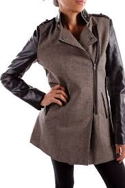 ci sono vegan leather coat front cropped image