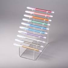 Clear Stands For Display Horizontal pen display multiple acrylic pen stand Acrylics 76