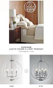 horchow lighting chandeliers. Horchow Silver Lucite 6-Light Pendant Lighting Chandeliers H