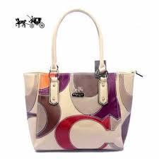 Coach Satchels Bags Big Logo Medium Ivory Outlet Sale VIP Shop