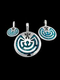 man in the maze pendant 925 sterling