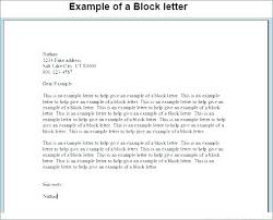 Block Form Business Letter Business Style Letter Block Form Business Letter Example Unique