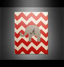 alabama football sports fan painting chevron elephant wall art home decor red grey black white team spirit on etsy 30 00 on alabama elephant wall art with alabama football sports fan painting chevron elephant wall art home