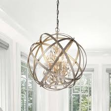 benita antique copper 4light metal globe crystal chandelier copper chandelier lighting e41