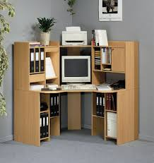 popular home office computer. Interior Small Corner Desk With Storage Minimalist Brown Stained Hardwood Simple Computer Design Glossy Black Glass Popular Home Office