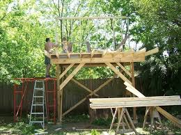 freestanding treehouse plans fresh how to build a simple tree house wooden design plans of freestanding