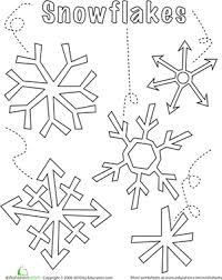 Small Picture Snowflake Worksheet Educationcom
