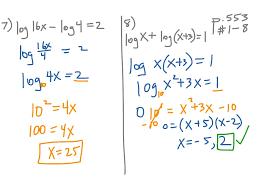 solve a logarithmic equation jennarocca