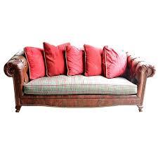 alligator embossed leather tuxedo style sofa by hall white