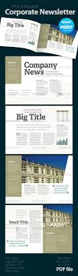 newsletter template for pages corporate newsletter 4 pages print templates template and printing