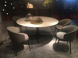luxury round dining tabe with marble on top