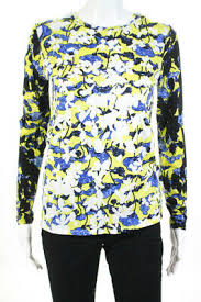 Peter Pilotto For Target Floral Print Long Sleeve Top Large