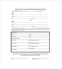 Dog Receipt Dog Bill Of Sale Template 13 Free Word Excel Pdf Format