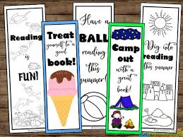 Free, printable bookmarks to print for classrooms or at home. Free Summer Printable Bookmarks