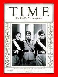 TIME Magazine Cover: Bruno, Benito & Vittorio Mussolini - Oct. 28, 1935 -  Benito Mussolini - Italy - Facism