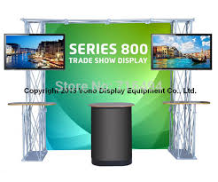 Tv Display Stand For Trade Shows Impressive 332' X 332' Trade Show Truss Booth With 32 Counters Portable Floding
