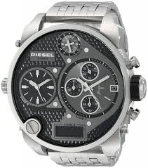 Big Face Designer Watches Big Face Watches Diesel Mens Sba Silver Watch