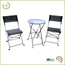 metal bistro set. Balcony Table Chairs-3pc Folding Metal Bistro Chair Set O