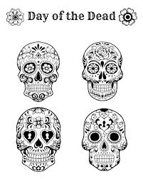 Day Of The Dead Coloring Sheets Tonyshume