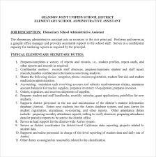 12+ Administrative Assistant Job Description Templates – Free ... Elementary School Administrative Assistant Sample Job Description Free Download