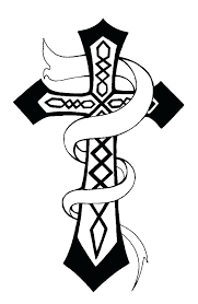 Cross Coloring Pages Christian Free Printable Easter Crosses