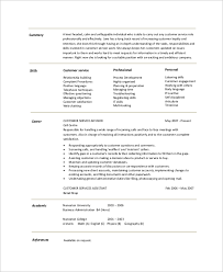 Customer Service Resume Summary