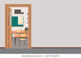 Open classroom door Through Open Empty School Interiorschool Hall With Open Door In Classroomplace For Text Shutterstock Royalty Free Teacher And Open Class Door Stock Images Photos