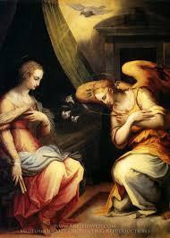 giorgio vasari the annunciation oil painting reion