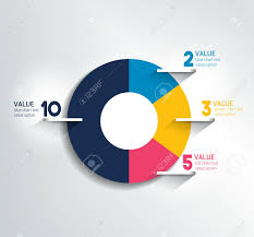 Round Circle Chart Graph Simply Color Editable Infographics
