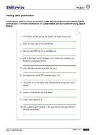 Adding Basic Punctuation