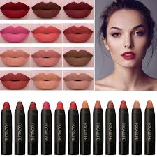 brand makeup beauty lips pigment matte lip stick long lasting waterproof make up moist matte lips lipstick pencils