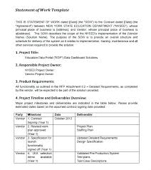 Free Statement Of Work Template Safe Method Example