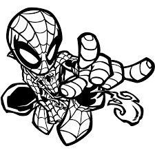 chibi spiderman coloring pages