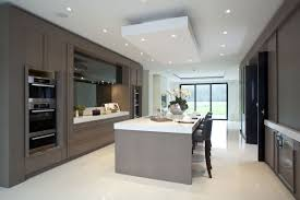 Contemporary Kitchen Units Taupe Black And White Contemporary Kitchen Panache Kitchens