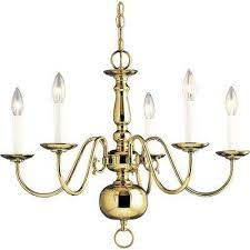 americana collection 24 in 5 light polished brass chandelier