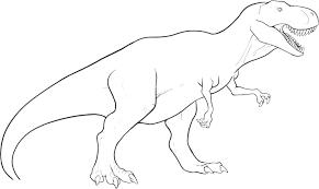 Dinosaur Coloring Page Realistic Dinosaur Coloring Pages Dinosaur