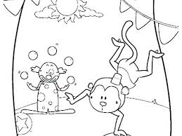 Circus Coloring Sheets For Toddlers Pages Kindergarten Printable