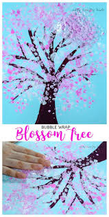Arty Crafty Kids | Art | Spring Crafts for Kids | Bubble Wrap Spring  Blossom Tree