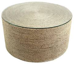round rope table beach style coffee tables seagrass ottoman coffee tables
