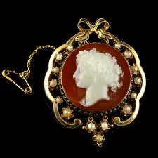 antique victorian hardstone cameo brooch 15ct gold pearls c 1880 to c 1900 united kingdom from the antique jewellery group the uk s premier antiques