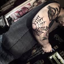 Spider Web Shoulder Cap Tattoo by callmedoug87 on DeviantArt together with Spider Tattoo On Man Front Shoulder besides Traditional Spiderman Tattoo On Right Shoulder besides 35 Artistic Spider Web Tattoo Designs   SloDive together with 80 Spider Web Tattoo Designs For Men   Tangled Pattern Ideas in addition 3D Spider Back Shoulder Tattoo For Men in 2017  Real Photo also 70 Tarantula Tattoo Designs For Men   Spider Ink Ideas also  also 20  Spiderman Logo Tattoo Designs And Pictures in addition Fantastic 3D Spider Tattoo On Mans Arm    840×960    white as well . on spider shoulder tattoos for men